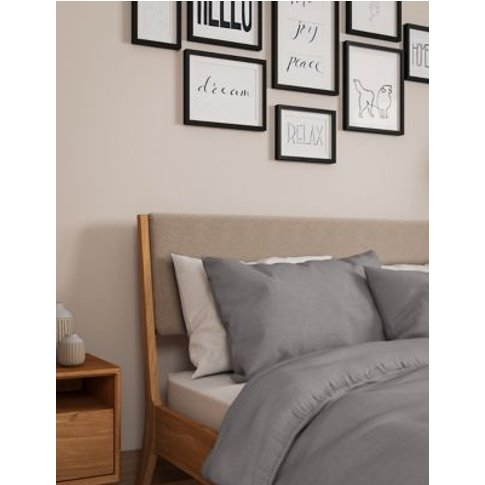 M&S Percale Duvet Cover - 6ft - Dove, Dove,Light Cre...