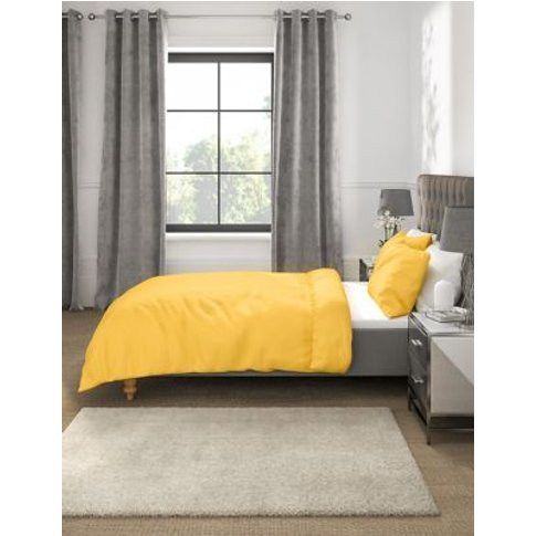 M&S Percale Duvet Cover - Sgl - Ochre, Ochre,Dove,Me...