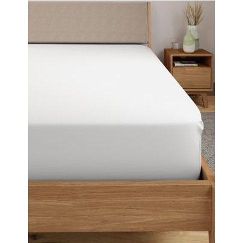 M&S Percale Extra Deep Fitted Sheet - 6ft - White, W...