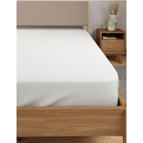 M&S Egyptian Cotton 400 Thread Count Percale Deep Fi...