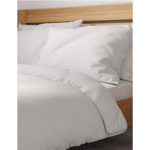 M&S Percale 300 Thread Count Duvet Cover - Dbl - Lig...