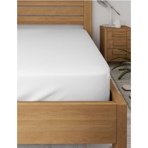 M&S Bamboo Deep Fitted Sheet - 6ft - White, White,Cream,Mid Grey,Stone,Mid Blue
