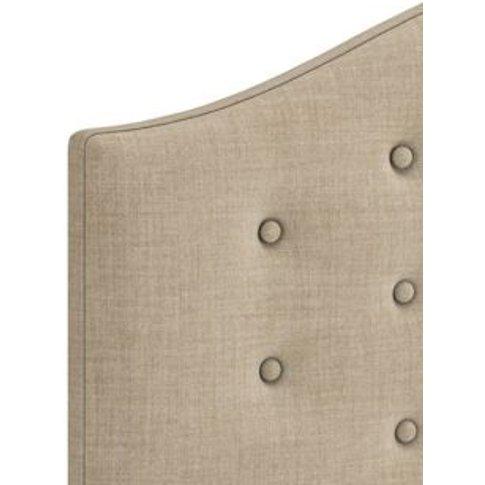 M&S Classic Buttoned Headboard - 6ft - Oatmeal, Oatm...