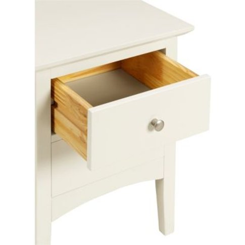 M&S Hastings Ivory Bedside Table - 1size - White, White