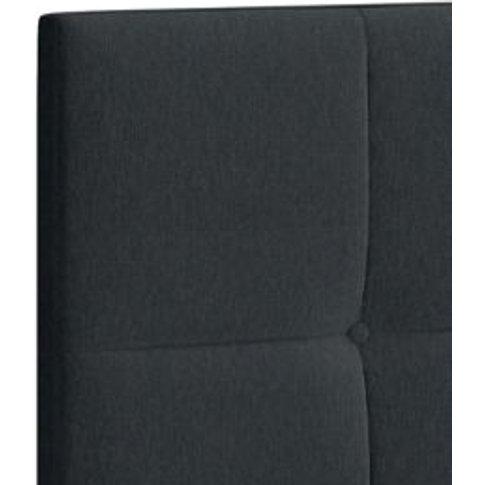 M&S Modern Buttoned Headboard - 4ft - Charcoal Mix, ...