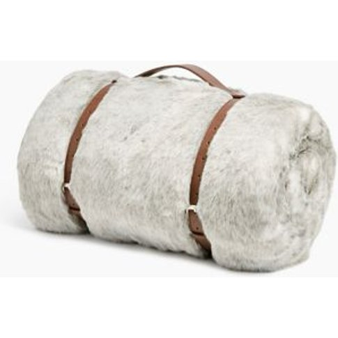 M&S Faux Fur Luxury Throw - Small - Grey Mix, Grey Mix