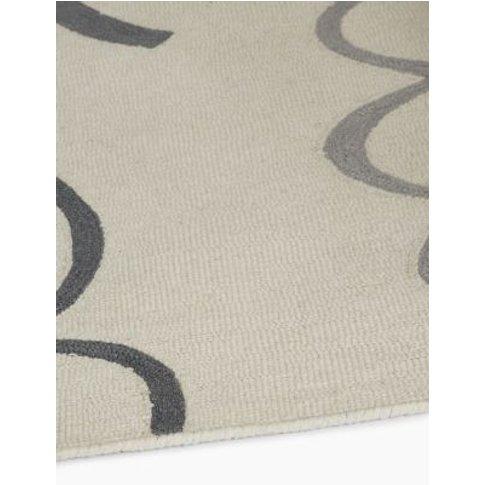 M&S Renzo Wool Rug - Large - Grey Mix, Grey Mix