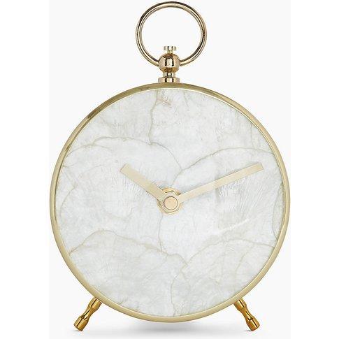 Capiz Shell Mantle Clock