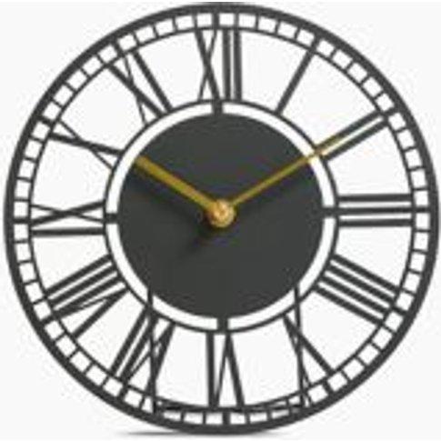 M&S Skeleton Metal Mantle Clock - 1size - Charcoal, ...