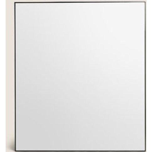 M&S Milan Rectangle Mirror - 1size - Black, Black