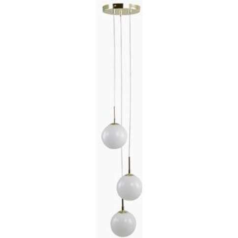 M&S Opal Globe Cluster Pendant Light - 1size - White...