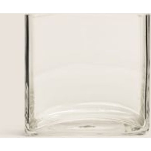 M&S Small Cube Vase - 1size - Clear, Clear