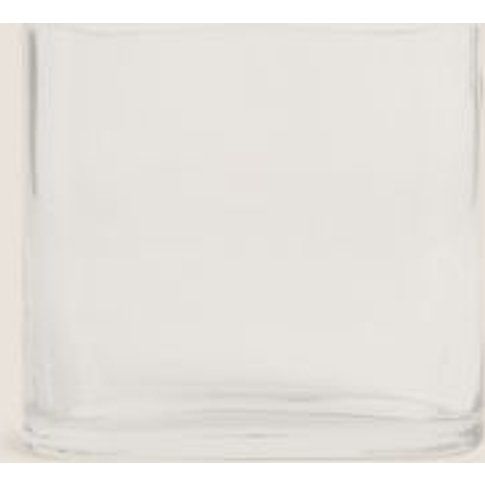 M&S Small Flat Oval Vase - 1size - Clear, Clear