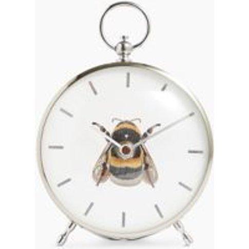 M&S Bee Mantel Clock - 1size - Silver, Silver