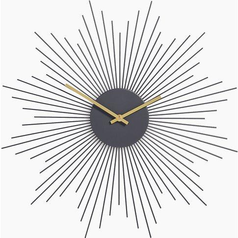 Sputnik Metal Wall Clock