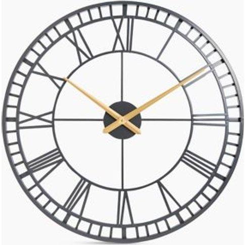 M&S Skeleton Large Metal Wall Clock - 1size - Mushro...