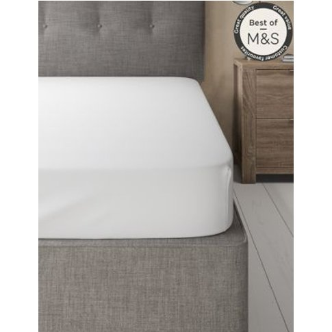 M&S Comfortably Cool Fitted Sheet - Dbl - Light Grey...