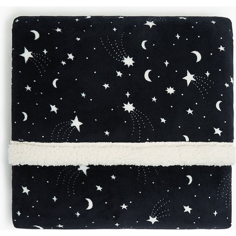Fleece Shooting Star Print Throw