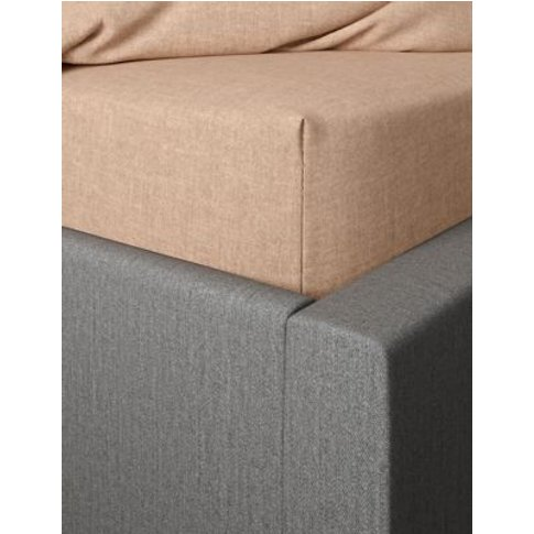 M&S Brushed Cotton Deep Fitted Sheet - 5ft - Neutral, Neutral