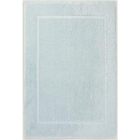 M&S Pure Cotton Textured Bath Mat - 1size - Seafoam,...