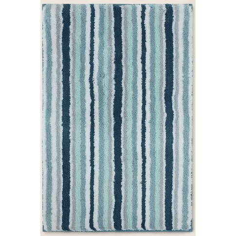 Super Soft Quick Dry Stripe Bath Mat