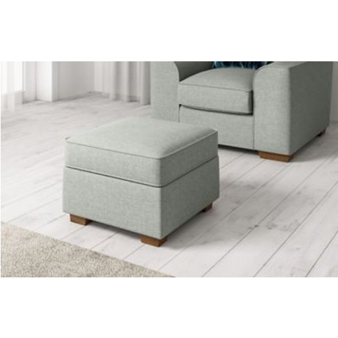 M&S Standard Footstool - Ftsl - Silver, Silver