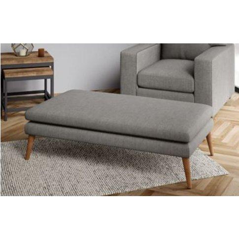 M&S Harper Extra Large Footstool - Xlfts - Slate, Sl...