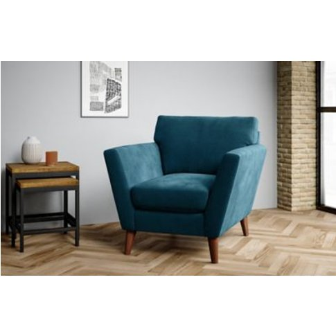 M&S Foxbury Armchair - Chr - Grey, Grey,Peacock,Dark...