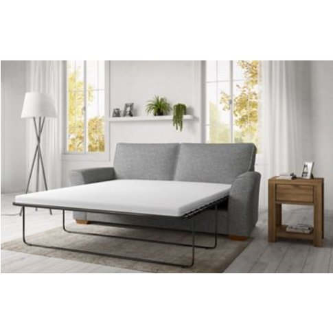M&S Lincoln Large Sofa Bed (Foam Mattress) - L2sbo - Silver, Silver,Blue