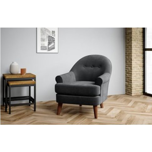 M&S Bella Armchair - Chr - Grey, Grey,Ochre,Navy,Nat...