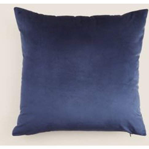M&S Unisex Velvet Cushion - 1size - Mink, Mink,Light...