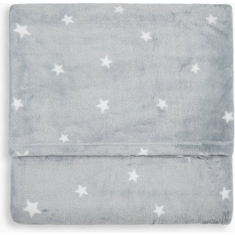 Fleece Star Print Throw