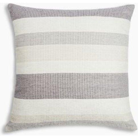 M&S Striped Chenille Cushion - 1size - Ochre, Ochre
