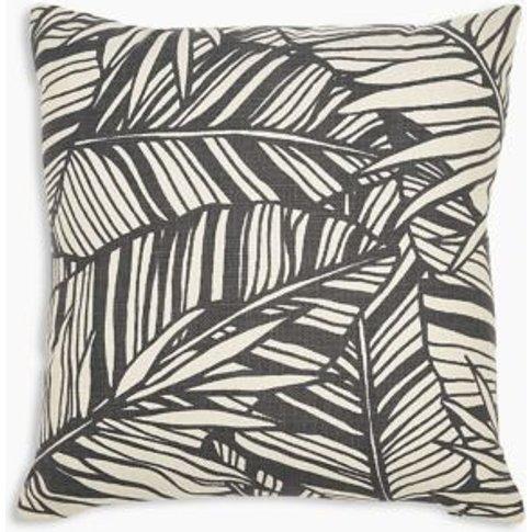 M&S Palm Print Cushion - 1size - Terracotta Mix, Ter...