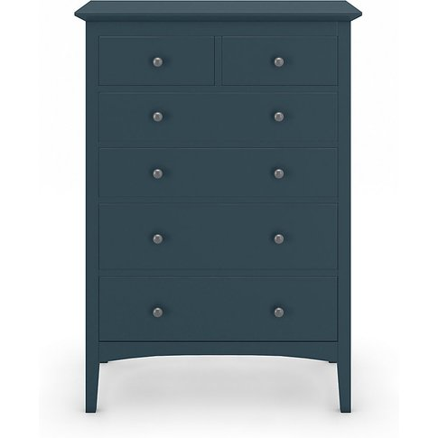 Hastings Mid Blue 6 Drawer Chest