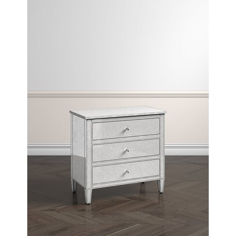 Evelyn 3 Drawer Chest Silver