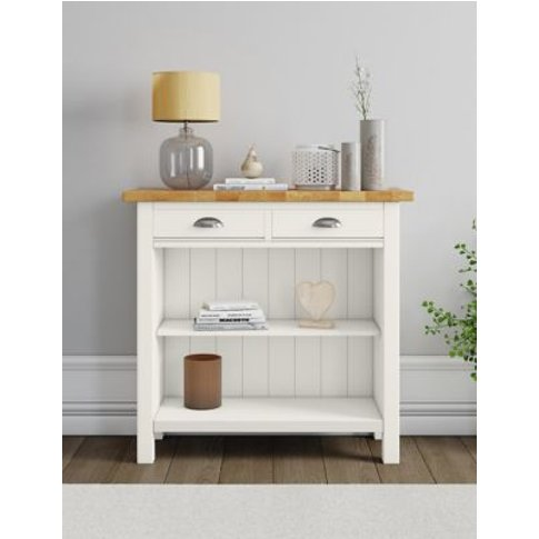 M&S Padstow Ivory Console Table - 1size, Ivory