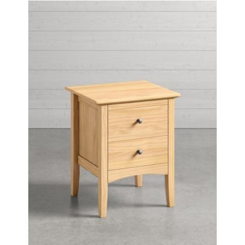 M&S Hastings Light Natural Bedside Table - 1size, Na...