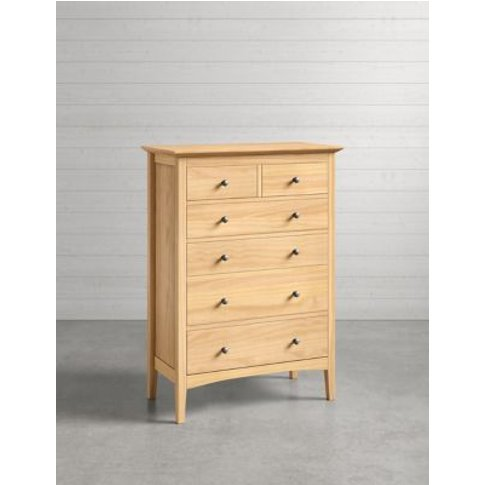 M&S Hastings Light Natural 6 Drawer Chest - 1size, N...