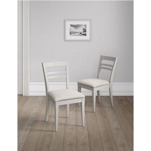M&S Set Of 2 Sandbanks Dining Chairs - 1size - Grey,...
