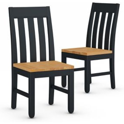 M&S Set Of 2 Padstow Dining Chairs - 1size - Dark Bl...