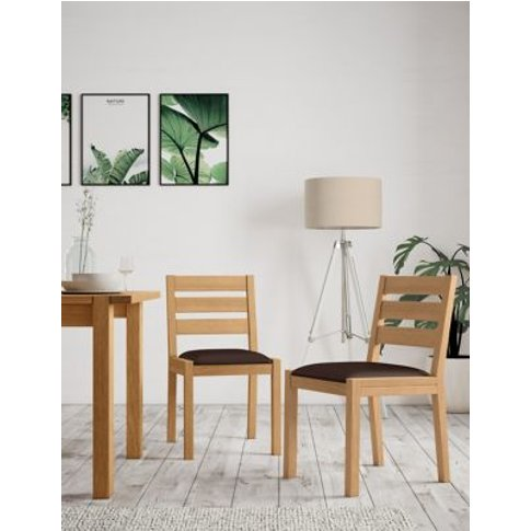 M&S Set Of 2 Sonoma™ Dining Chairs - 1size - Oak, Oak