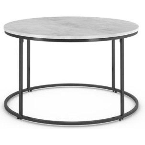 M&S Farley Round Coffee Table - 1size - White Mix, W...