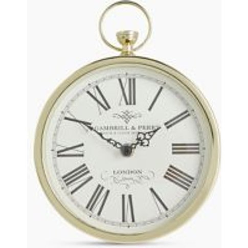 M&S Fob Mantel Clock - 1size - Antique Brass, Antiqu...