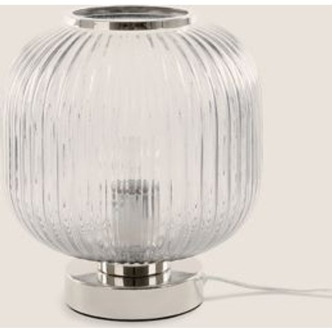 M&S Amelia Ridged Table Lamp - 1size - Grey, Grey