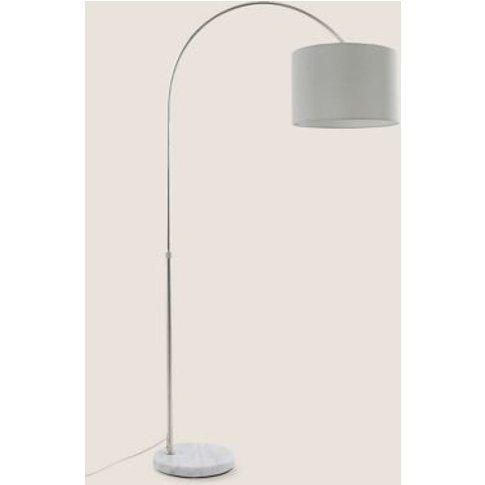 M&S Freya Arc Floor Lamp - 1size - Silver, Silver