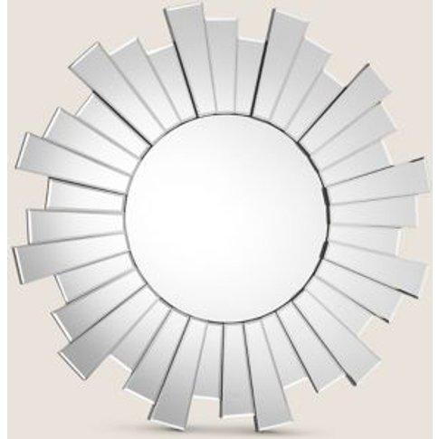 M&S Sunburst Large Round Mirror - 1size - Clear, Clear