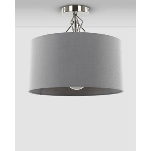 M&S Sophia Flush Ceiling Light - 1size - Grey, Grey
