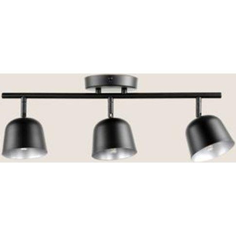 M&S Finn Scandi Metal 3 Flush Ceiling Light - 1size - Black, Black