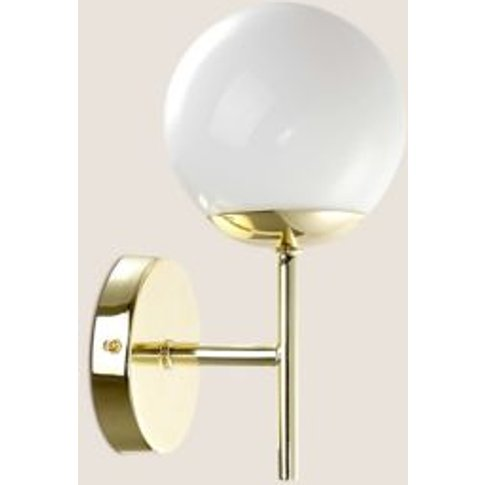 M&S Opal Wall Light - 1size - White, White